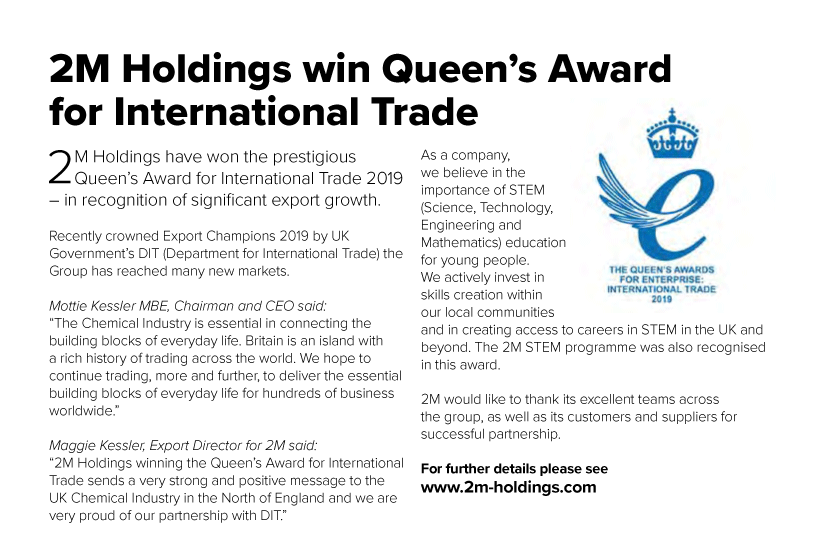 2M Holdings win Queen's Award 2for International Trade